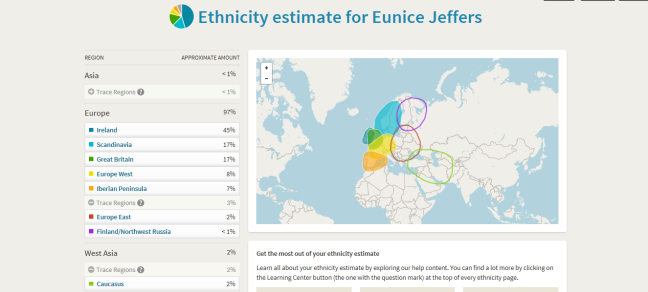 eunices-ethnicity-results
